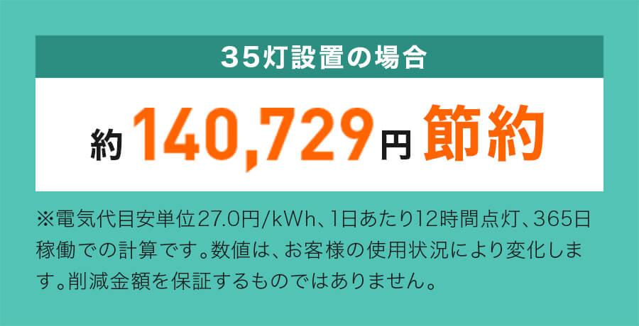35灯設置の場合約140,729円節約
